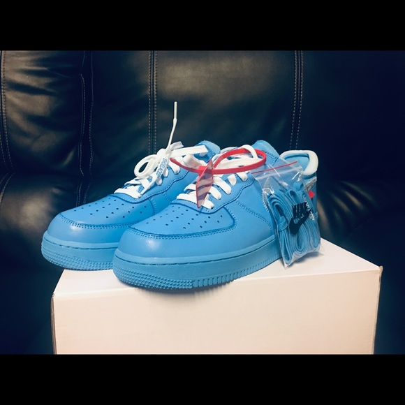 Off White Shoes Offwhite Air Force 1 Low Mca University Blue Poshmark
